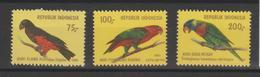 Indonésie 1980 Oiseaux Série 895-897 3 Val ** MNH - Indonesia