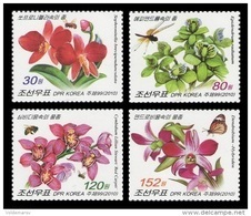 North Korea 2010 Mih. 5579/82 Flora And Fauna. Orchids. Insects MNH ** - Korea, North