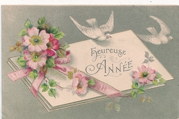 Cpa Fantaisie Gaufrée Heureuse Année - Año Nuevo