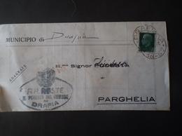 REGNO ITALIA BIGLIETTI CON OVALE DI FRANCHIGIA COMUNALE DRAPIA REGIE POSTE 1934 - Franchigia