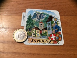 AUTOCOLLANT, Sticker «SAMOENS (74) » (village, Edelweiss, Blasons) - Adesivi