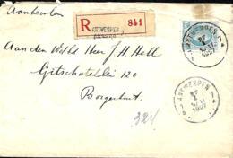Belgique. TP 207  L. Rec. Antwerpen 7 > Borgerhout   1927  Tache - 1922-1927 Houyoux