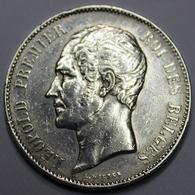 LEOPOLD I ROI DES BELGES  1851 MET PUNT  5 FRANCS    ARGENT  _ 3 SCANS - 1831-1865: Léopold I