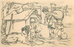 THEMES ILLUSTRATEURS POULBOT.F EDIT.DEVAMBEZ.PASSAGE PANORMAS.PARIS 1916 N°7 VOIR IMAGES - Poulbot, F.