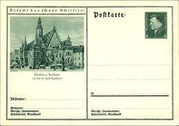 Entier Postal Cp Wrocław Breslau Schlesien, Rathaus, Ring, Ratusz, Rynek - Schlesien