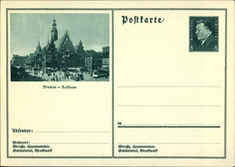 Entier Postal Cp Wrocław Breslau Schlesien, Rathaus, Ring, Rynek, Ratusz - Schlesien