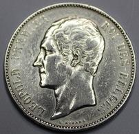 LEOPOLD I ROI DES BELGES  1852  5 FRANCS    ARGENT  _ 2 SCANS - 1831-1865: Léopold I