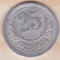 34. Hérault .Chambres De Commerce De L'Hérault . 25 Centimes 1921 - 1924 - Monétaires / De Nécessité