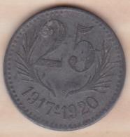 34. Hérault .Chambres De Commerce De L'Hérault . 25 Centimes 1917 - 1920 .en Zinc - Monétaires / De Nécessité