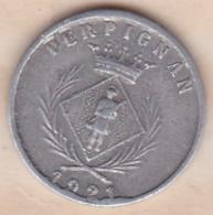 66. Pyrénées Orientales. Perpignan. Chambre Syndicale Des Commercants 5 Centimes 1921 - Monétaires / De Nécessité