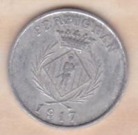 66. Pyrénées Orientales. Perpignan. Chambre Syndicale Des Commercants 5 Centimes 1917 - Monétaires / De Nécessité