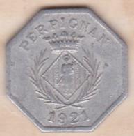 66. Pyrénées Orientales. Perpignan. Chambre Syndicale Des Commercants 10 Centimes 1921 - Monétaires / De Nécessité
