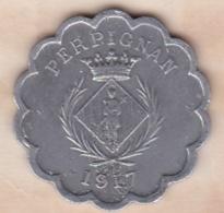 66. Pyrénées Orientales. Perpignan. Chambre Syndicale Des Commercants 25 Centimes 1917 - Monétaires / De Nécessité