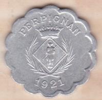66. Pyrénées Orientales. Perpignan. Chambre Syndicale Des Commercants 25 Centimes 1921 - Monétaires / De Nécessité