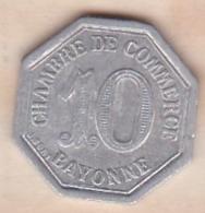 64 . Pyrénées-Atlantiques . Chambre De Commerce De Bayonne . 10 Centimes 1920 - Monétaires / De Nécessité