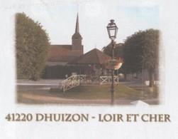 DHUIZON LOIR ET CHER 41 - EGLISE, KIOSQUE - PAP ENTIER POSTAL FLAMME ORLEANS CENTRE DE TRI 2008, VOIR LES SCANNERS - Vacances & Tourisme