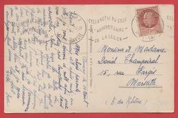 """FLAMME - ANNECY  """"CELEBREZ LE 30 AOUT L'ANNIVERSAIRE DE LA LEGION"""" - 1942 - - 1921-1960: Modern Period"""