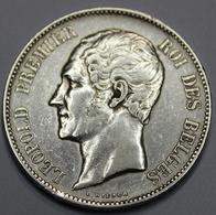LEOPOLD I ROI DES BELGES  1853  5 FRANCS    ARGENT  _ 2 SCANS - 1831-1865: Léopold I
