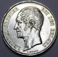 LEOPOLD I ROI DES BELGES  1851  5 FRANCS    ARGENT  _ 2 SCANS - 1831-1865: Léopold I