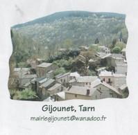 GIJOUNET TARN 81 - VUE DU VILLAGE, CACHETS POSTAUX VIANE 2008, PAP ENTIER POSTAL, VOIR LES SCANNERS - Vacances & Tourisme