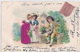 Cpa Fantaisie Gaufrée Joueur Mandoline - Tarjetas De Fantasía