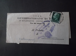 REGNO ITALIA BIGLIETTI CON OVALE DI FRANCHIGIA COMUNALE GOVERNATORIATO DI ROMA REGIE POSTE 1935 - 1900-44 Vittorio Emanuele III