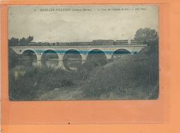 CPA Mauvais état - ISLES LES VILLENOY - Le Pont Du Chemin De Fer - Locomotive à Vapeurs - France