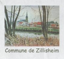 ZILLISHEIM 68 HAUT RHIN - VUE DU VILLAGE, PAP ENTIER POSTAL 2010 - VOIR LES SCANNERS - Vacances & Tourisme