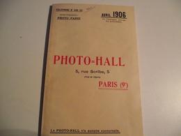 CATALOGUE, PHOTO= Hall, 1906, 96 Pages - Publicités