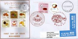 La Pâtisserie Japonaise, Belle Lettre De Tokyo 2019, Adressée Andorra, Avec Timbre à Date Arrivée - Alimentation