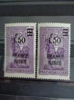 MADAGASCAR 1932-39 CERES N° 261 ** - SURCHARGE SUR 2 LIGNES - Madagascar (1889-1960)