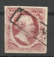 15-SELLO CLAVE HOLANDA 1852 Nº2 .VALOR YVERT 42,00€,MATASELLOS FRANCO ,SIN DEFECTOS,CLASICO - 1852-1890 (Guillaume III)
