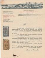 Lettre Illustrée 4 Pages Publicité Prix BARON Société Des Oléonaphtes Huile De Dion Bouton MARSEILLE - France