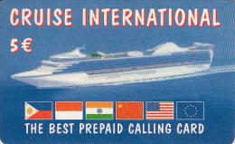 GREECE - Boat, Cruise International Prepaid Card 5 Euro(paper), Used - Boats