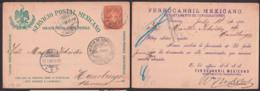 Veracruz Ferrocarril Mexicano Tarjeta Postal 1900, GA Mit Privatem Zudruck - Mexiko