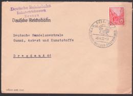 Richard Wagner Germany Allemagne DESSAU Festwoche 1957, Komponist Musiker, Abs. Deutsche Reichsbahn BBW - Musica