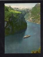 Norvège Norway / Norge / A Tourist Vessel On Tthe Geirangerfjord Seen .... - Norwegen