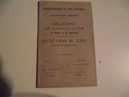ARCHICONFRÉRIE Du Vœu National , Règlement De L'association 1883 - Religion & Esotérisme