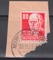 Ernst Thälmann 80 Pf Rot DDR 340 (17,-) Germany Briefstück, Arbeiterklasse, Politiker - DDR