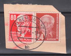 Ernst Thälmann 80 Pf Rot DDR 340 (17,-) Germany Briefstück, Arbeiterklasse, Politiker, Gest. BERLIN O17 - DDR