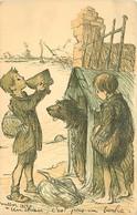 THEMES ILLUSTRATEURS POULBOT.F  N°58 AVEC UN CHIEN 1915  COLORISE VOIR IMAGES - Poulbot, F.