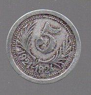 JETON MONNAIE NECESSITE Chambres De Commerce De L'HERAULT 5 Centimes 1921 - 1924 - Monétaires / De Nécessité