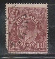 AUSTRALIA Scott # 63 Used - KGV Head - Corner Fault - 1913-36 George V : Têtes