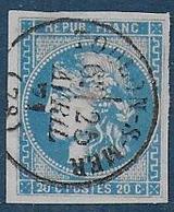 Bordeaux N° 46 - Oblitéré Cachet à Date Type 16  Toulon - S - Mer - 1870 Bordeaux Printing