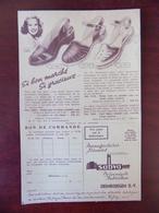 Feuillet Publicitaire Chaussures Sabva Erembodegem - Publicités