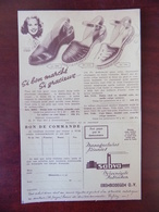 Feuillet Publicitaire Chaussures Sabva Erembodegem - Publicidad