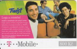 CZECH REPUBLIC - People, Twist/T Mobile Prepaid Card 800 Kc, Exp.date 04/07, Used - Czech Republic