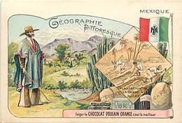 - Chromos -ref-ch889- Chocolat Poulain - Geographie Pittoresque - Mexique - Plantation De Canne A Sucre - - Poulain