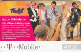 CZECH REPUBLIC - People, Audio Pohlednice, Twist/T Mobile Prepaid Card 400 Kc(paper), Exp.date 06/05/08, Used - Czech Republic
