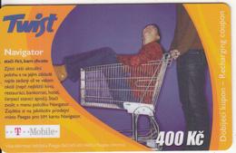 CZECH REPUBLIC - Navigator, Twist/T Mobile Prepaid Card 400 Kc, Exp.date 01/05/07, Used - Czech Republic